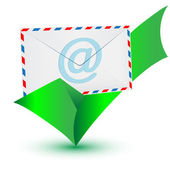 Check mark e-mail.Vector — Vector de stock
