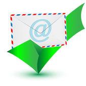 Segno di spunta e-mail.vector — Vettoriale Stock