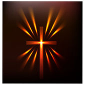 Hot light of the cross.Vector — Stock Vector