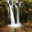 Stock Photo: Small forest waterfall
