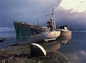 Fischerboote nach Sturm — Stockfoto