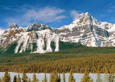 Panoramic view to Canadian Rockies Mountains — Stock Photo