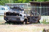 Yanmış araba — Stok fotoğraf