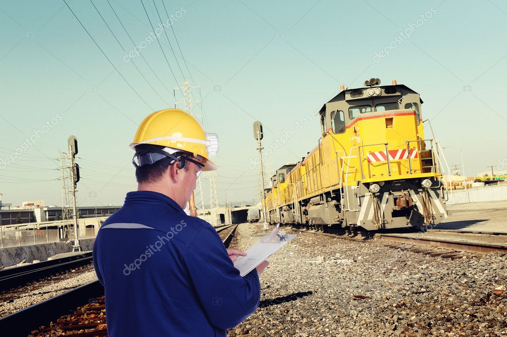 Engineer with yellow hardhat   Stock Photo #7974648