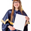 Stock Photo: Young graduation woman