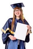 Femme jeune de graduation — Photo