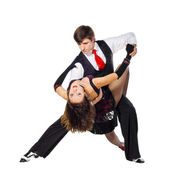 Two Tango dancers in action — Stock Photo
