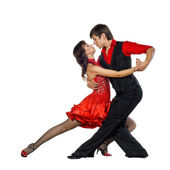 Tango dancers — Stock Photo