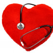 Stethoscope and a red heart — Stock Photo