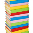 Stack of colorful real books. side view — Stock Photo