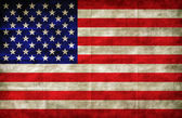 American flag on grunge paper — Stock Photo