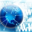 Internet and world wide web connections concept picture - Stock Photo