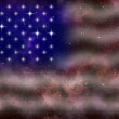 American flag stylized abstract space background — Stock Photo #8607190