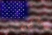 American flag stylized abstract space background — Stock Photo