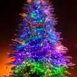 Stock Photo: Christmas tree on night