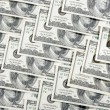 A lot of 100 banknotes — Stockfoto