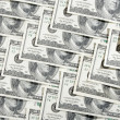 Lot of 100 banknotes — Stockfoto #8732948