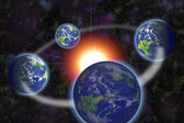 Solar system primitive modeling — Stock Photo