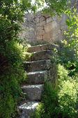 Gamla sten trappor — Stockfoto