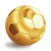 Golden football ball — Zdjęcie stockowe