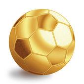 Golden football ball — Stock Photo