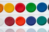 Watercolor paint on palette — Stock Photo