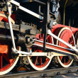 Stock Photo: Wheels steam train