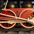 Couple wheels steam train — Stock Photo