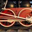 Couple wheels steam train — Stock Photo #9463610