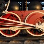 Couple wheels steam train — Stock Photo