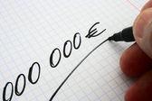 000000 euro — Stock Photo