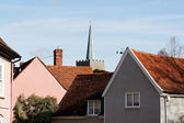 Village Skyline with a Church Steeple — Stock Photo