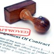 Assignment of contract — Stock Photo