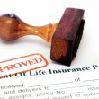 Life insurance policy — Stock Photo #10198010
