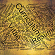 Stock Photo: Curriculum vitae word cloud