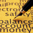 Stock Photo: Balance account money
