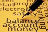 Balance account money — Stockfoto