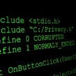 Program code on a monitor — Stock Photo