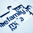 Family puzzle — Stock Photo