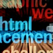 Stock Photo: Html - monitor screen