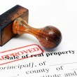 Sale of property form — Stock Photo