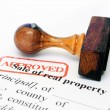 Stok fotoğraf: Sale of property form