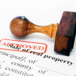 Stockfoto: Sale of property form