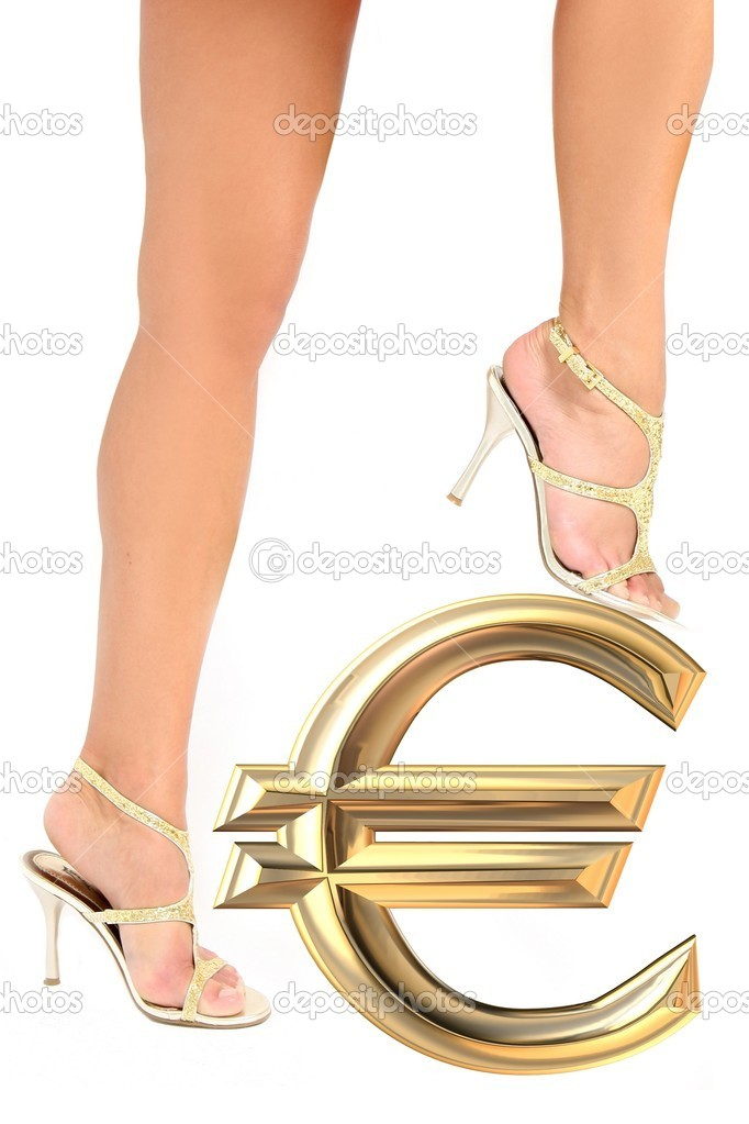 Legs on euro — Stock Photo #8041741