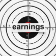 Stock Photo: Earnings target