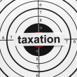 Stock Photo: Taxation target