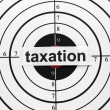 Taxation target — Stock Photo