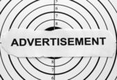 Advertisement target — Stock Photo