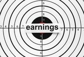Earnings target — Stock Photo