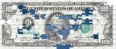 Puzzle dólar — Foto de Stock